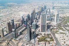Vistas aéreas de Dubai Fotografia de Stock Royalty Free