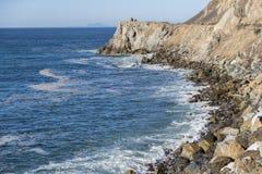 Vistas aéreas de la costa costa del océano Fotos de archivo libres de regalías