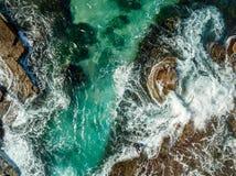 Vistas aéreas de la costa Illawarra de Austinmer imágenes de archivo libres de regalías