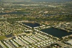 Opinión aérea sobre Miami Imagen de archivo libre de regalías