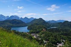 Vistas alpinas foto de stock