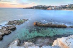 Vistas altas sobre a associação da rocha de Coogee Imagem de Stock Royalty Free