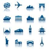 Vistas & ícones do transporte Fotografia de Stock Royalty Free