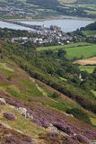Vistas ao castelo de Conwy Fotografia de Stock