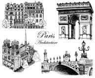 Vistas arquitectónicas de París Fotografía de archivo libre de regalías