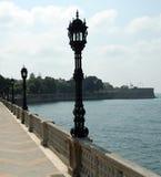 Vistas cénicos de Cadiz na Andaluzia, Spain - Oceano Atlântico Fotografia de Stock Royalty Free