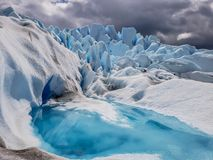 Vistas cênicos de Glaciar Perito Moreno, EL Calafate, Argentina imagem de stock royalty free