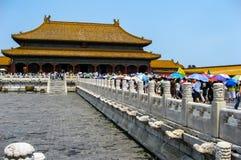 Vistas da Cidade Proibida, Pequim China Imagens de Stock Royalty Free