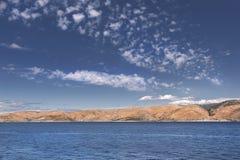 Vistas da Croácia Cruzeiro entre a separação e a ilha Hvar Fotos de Stock Royalty Free