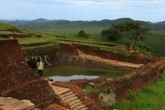 Vistas da fortaleza da rocha de Sigiriya em Sri Lanka fotografia de stock