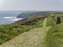 Vistas da ilha de Caldey Imagem de Stock