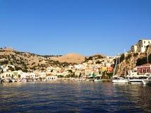 Vistas da ilha de Mykonos Foto de Stock