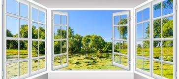 Vistas da lagoa Imagens de Stock Royalty Free