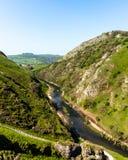 Vistas da parte superior de montes de Dovedale imagens de stock