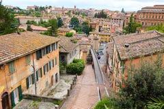 Vistas das ruas da cidade bonita de Perugia Fotografia de Stock