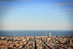 Vistas de Barcelona desde los Bunkers Stock Images