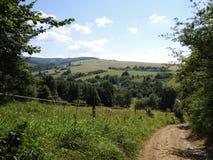 Vistas de carpathian branco imagem de stock royalty free