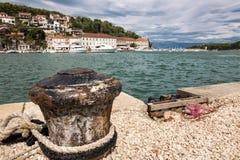 Vistas de Croacia Isla hvar Imagenes de archivo