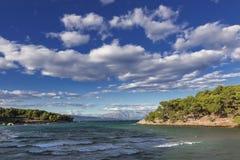 Vistas de Croacia Isla hvar Fotos de archivo libres de regalías