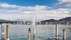 Vistas de Ginebra el 11 de abril de 2015 Imagenes de archivo