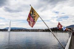 Vistas de Ginebra el 11 de abril de 2015 Imágenes de archivo libres de regalías
