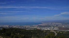 Vistas de Haifa Foto de archivo libre de regalías