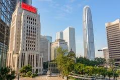 Vistas de Hong Kong - rascacielos Imágenes de archivo libres de regalías