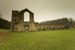 Vistas de la abadía de las fuentes en Yorkshire del norte Imagenes de archivo