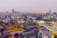 Vistas de la ciudad de Bangkok Fotografía de archivo libre de regalías