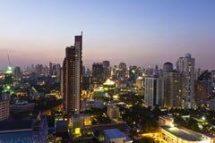 Vistas de la ciudad de Bangkok Imagen de archivo libre de regalías