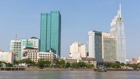 Vistas de la ciudad del barco Imagen de archivo libre de regalías