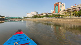 Vistas de la ciudad del barco Fotografía de archivo