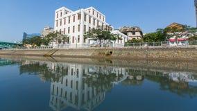 Vistas de la ciudad del barco Imagenes de archivo