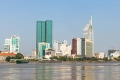 Vistas de la ciudad del río de Saigon Imagen de archivo