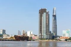 Vistas de la ciudad del río de Saigon Fotografía de archivo
