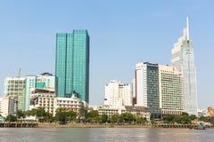 Vistas de la ciudad del río de Saigon Foto de archivo