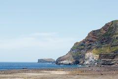 Vistas de la costa atlántica del archipiélago del portugués de Azores Imágenes de archivo libres de regalías