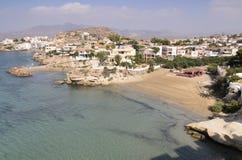 Vistas de la costa hermosa de San Juan de Los Terreros Foto de archivo libre de regalías