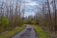 Vistas de la naturaleza y de caminos a lo largo de Shelby Bottoms Greenway y de los rastros naturales del ataque frontal del río  imagen de archivo