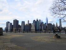 Vistas de manhattan de Brooklyn Fotografia de Stock