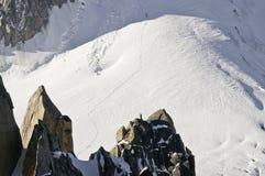 Vistas de Mont-Blanc Foto de Stock Royalty Free