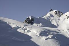 Vistas de Mont-Blanc Imagem de Stock Royalty Free