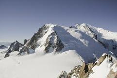 Vistas de Mont-Blanc Fotografia de Stock