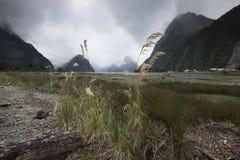 Vistas de montañas y de rocas de Nueva Zelanda foto de archivo libre de regalías