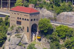 Vistas de Montserrat Monastery em Catalonia, Espanha imagens de stock