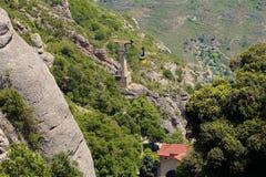 Vistas de Montserrat Monastery em Catalonia, Espanha imagens de stock royalty free