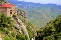Vistas de Montserrat Monastery em Catalonia, Espanha fotos de stock royalty free