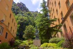 Vistas de Montserrat Monastery em Catalonia, Espanha fotos de stock