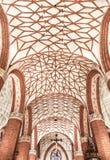 Vistas de Polonia. Cámara acorazada hermosa en iglesia gótica. Foto de archivo libre de regalías