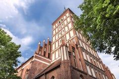 Vistas de Polonia. Ciudad vieja en Olsztyn Foto de archivo